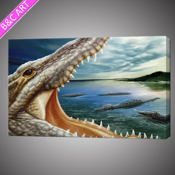 Fierce crocodiles design wallpaper home decoration digital printing animal canvas art