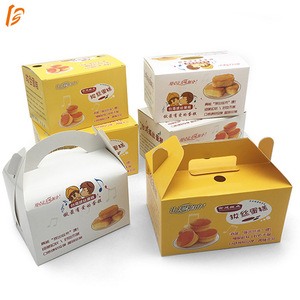 Customized folding bakery packaging supplies portable cake box