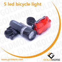 goldmore 1 Bicycle light accessories, 5 led bicycle led flashlight, front rear led bike light