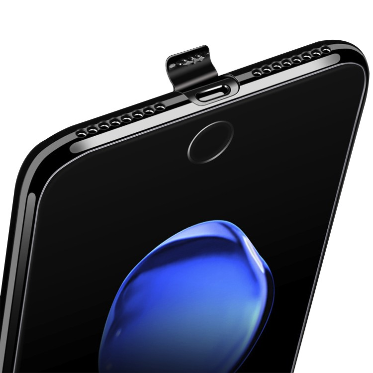 DFIFAN For iPhone 7 jet black case,cover case for iphone 7 plus bright black tpu gel phone case accessories