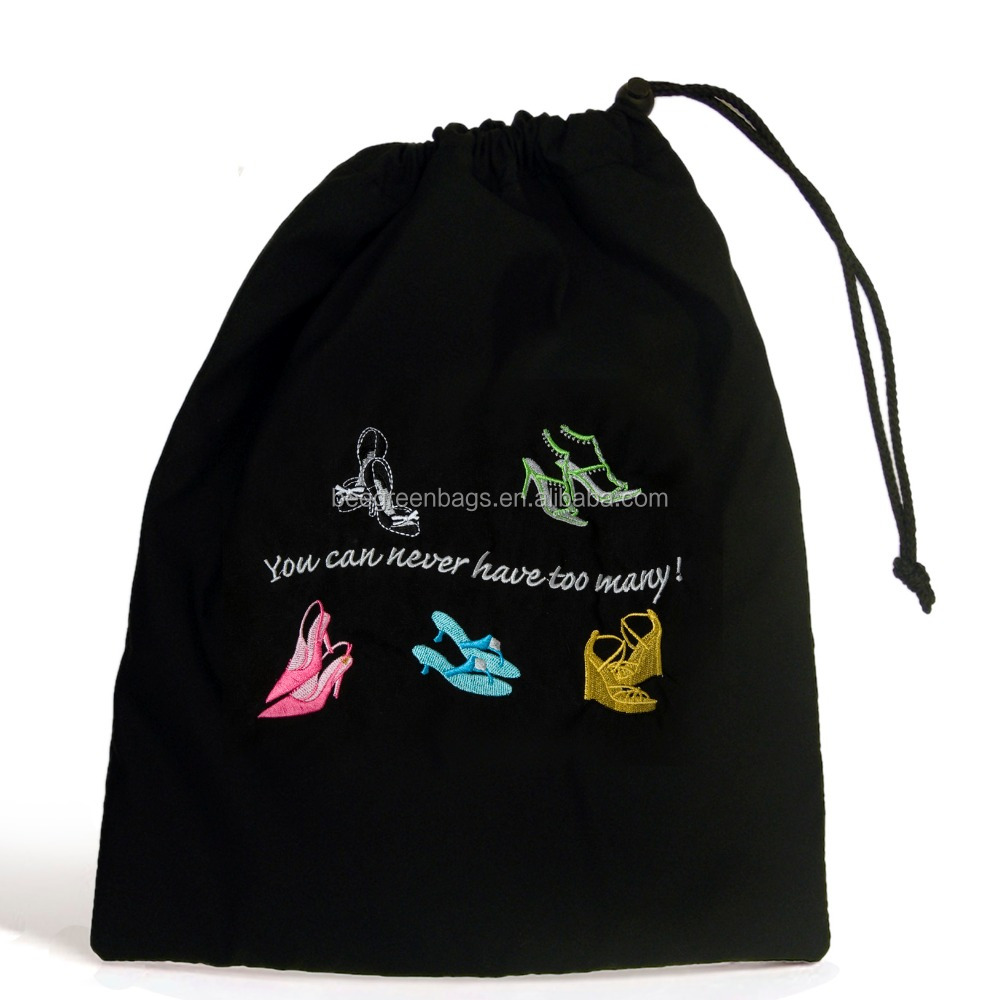 BeeGreen Promotion Cotton Drawstring Shoe Bag For Lady