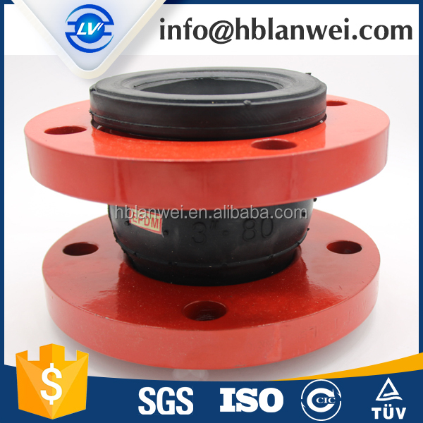 NBR Ball Ruber Expansion Joint Coupling with Red flanges
