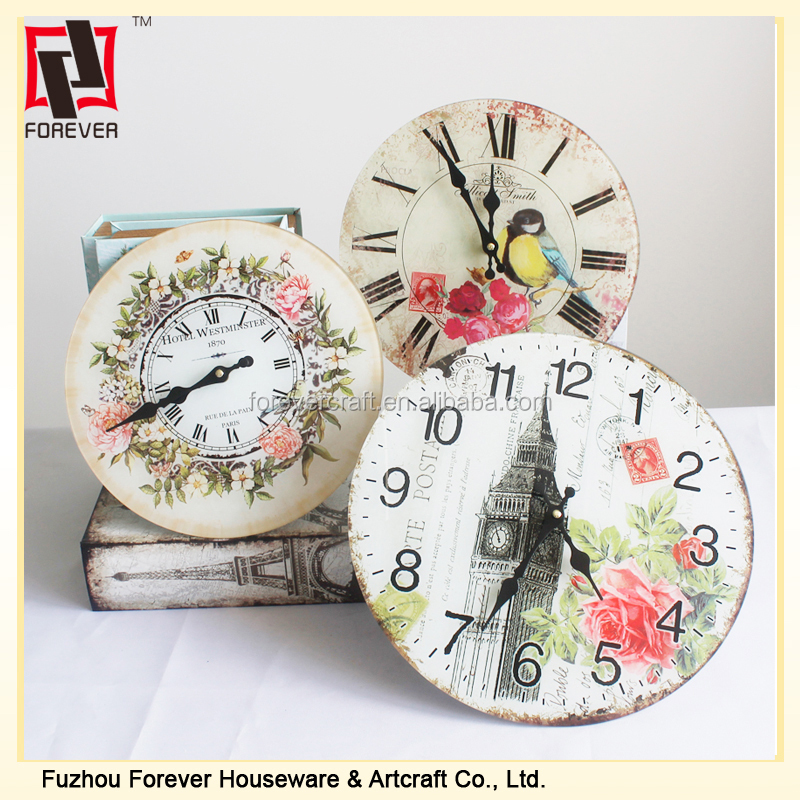 chinese Vintage style description for a wall clock
