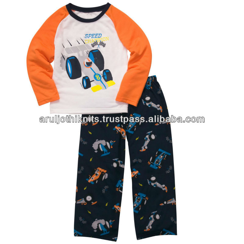 BOYS CAR PRINTED PAJAMA