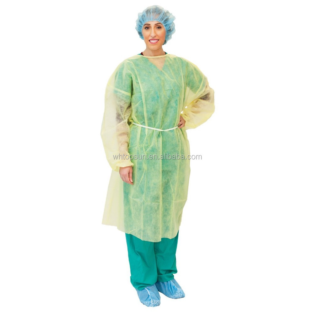 Surgical Nonwoven Isolation Gown Hospital Waterproof Nursing Gown ...