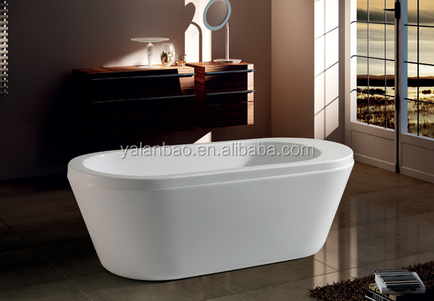 one person acrylic indoor free standing soaking bathtub