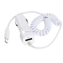 Wholesale Hot Sale 1 Port USB Type C Car Charger with 1.5M Spring Cable for LG G5