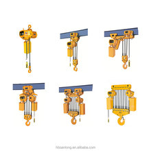 10 ton pulley block HHBB type electric chain hoist with trolley wholesale