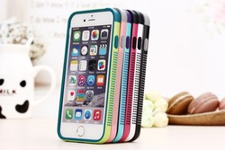 Dot border hybrid tpu+pc transparent back cover phone case for iphone