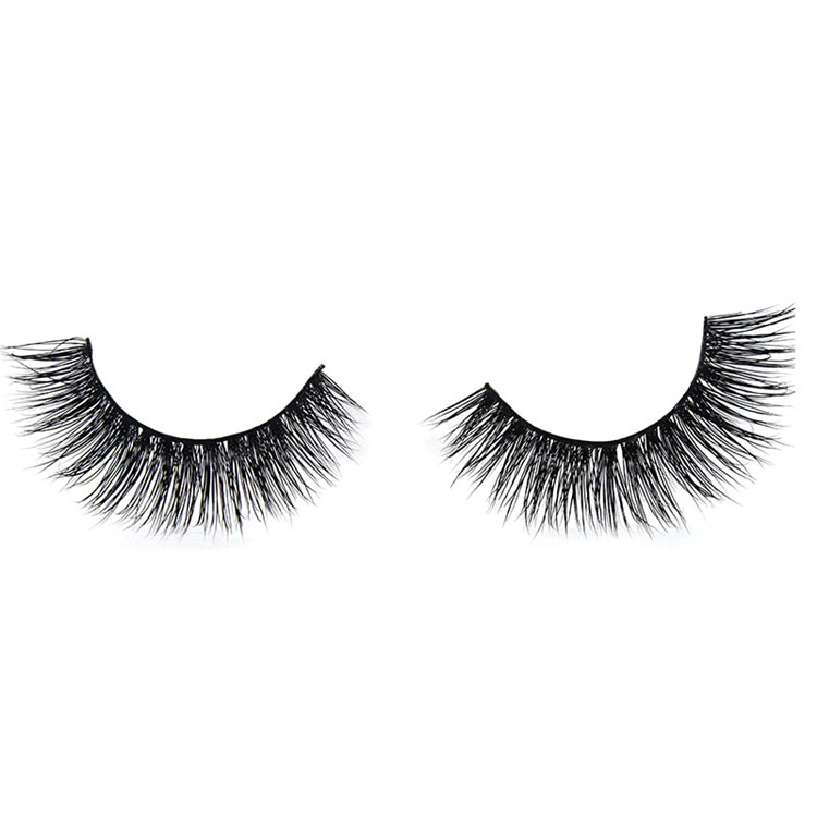 3D faux mink eyelashes without glue custom package free sample silk lashes
