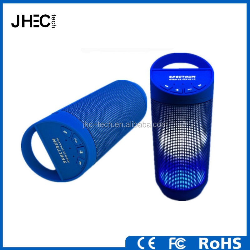 Colorful disco mini bluetooth LED Flashing light speaker with handsfree call TF card function