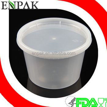 Premium Quality 16oz plastic disposable food grade deli soup cup