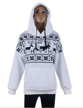 Printed women pullover hoodies