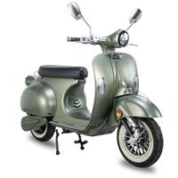 EEC italy adult electric scooter 2 wheel vintage classic retro 2000W USB port rear box 60V