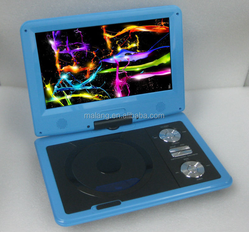 Hot 9 inch portable evd player with 3D glasses