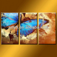 Latest designs butterfly painting on canvas oil painting for decor