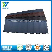 Aluminium Zinc Stone Coated Types Of Roof Covering For Tourist Destination Building
