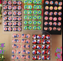 Custom flag pattern design earrings,England flag earring,Chile fag earring,Brazil fag and American flag earring