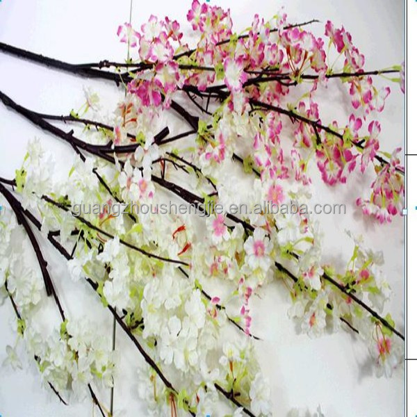 Q122502 plum blossom artificial flower China wholesale artificial cherry blossom branch