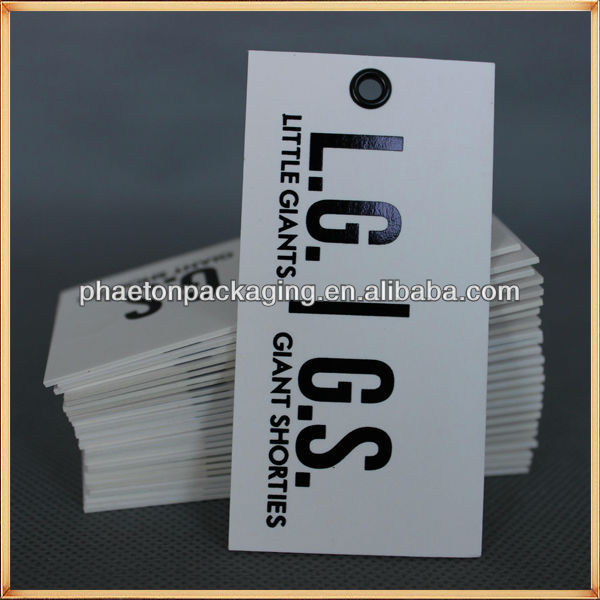 700gram thick coated paper matte film tags black hot stamping logo printed hangtags&paper print tags
