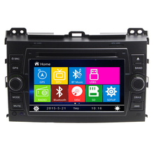 7 inch Car DVD Player GPS Navigation System for Toyota Land Cruiser Prado 120 2002 2003 2004 2005 2006 2007 2008 2009 Radio RDS