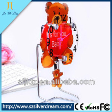 Special design table lamp with clock plastic table clock