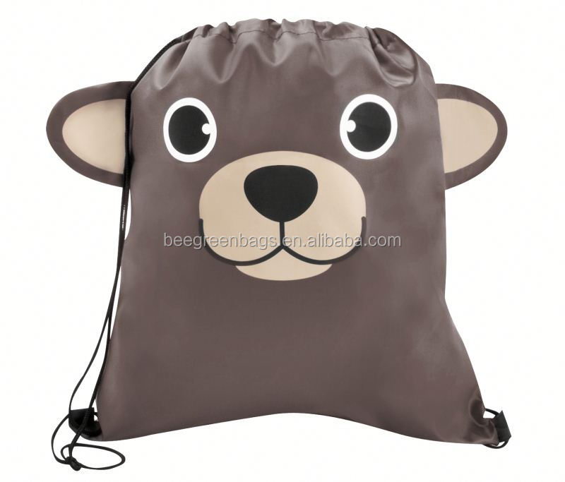 Eco-friendly promotional child draw string ruck sacks