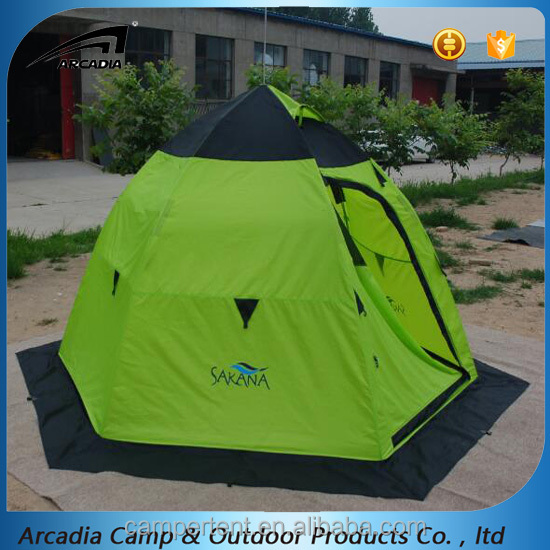 Automatic Pop up Winter Ice Fishing Tent with Umbrella Structure Poles