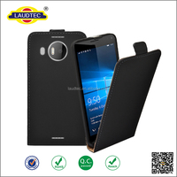 Luxury PU leather flip protective magnetic cover case for lumia 950 xl-----laudtec