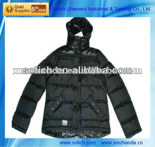Men's hoody windbreak oily coating filling jacket padding jacket