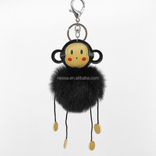 Fashion Pom Pom Monkey California Keychains Wholesale NSYZ-0003