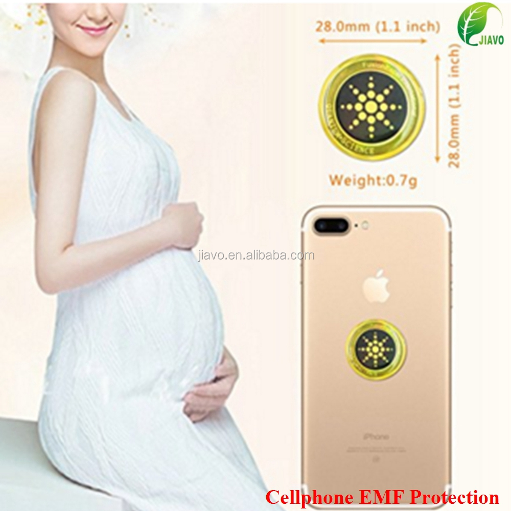 Epoxy Resin Surface Anti Radiation Cell Phone EMF Protection Sticker For Pregnant Woman
