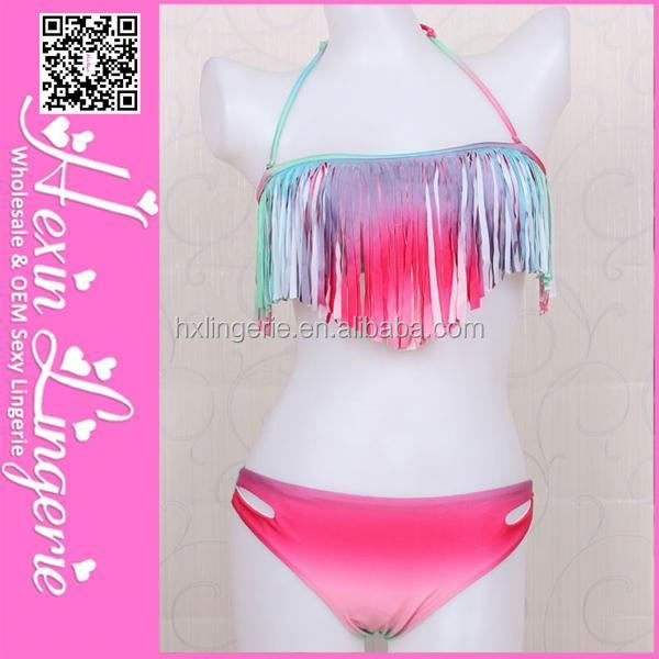 Wholesale Cheap hot sexy shiny bikini swimwear
