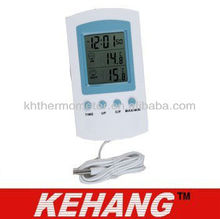 In/Outdoor Thermometer With Clock