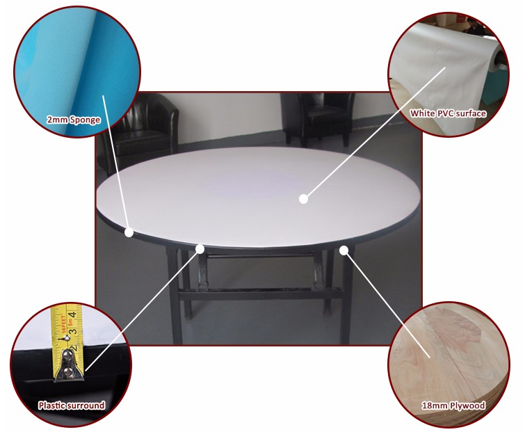 Hot sale 6ft and 8ft round folding table used banquet table