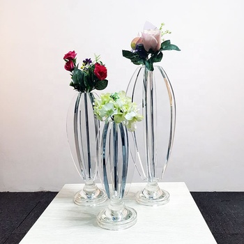 New cheap flower shape single head crystal candle stand for wedding table decoration glass candle holder home goods flower vase