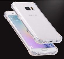 PC transparent case tpu mobile phone protective cover for samsung galaxy s6 phone covers