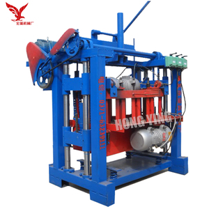 QMJ4-35A hand press operated fly ash brick block making machine