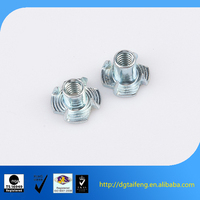 cheaper price steel M6 M8 galvanized cold forging tee nut DIN1624 t nut