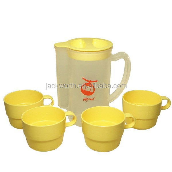 Plastic water Jug - Ice Tea maker plastic pitcher + 4pcs cups