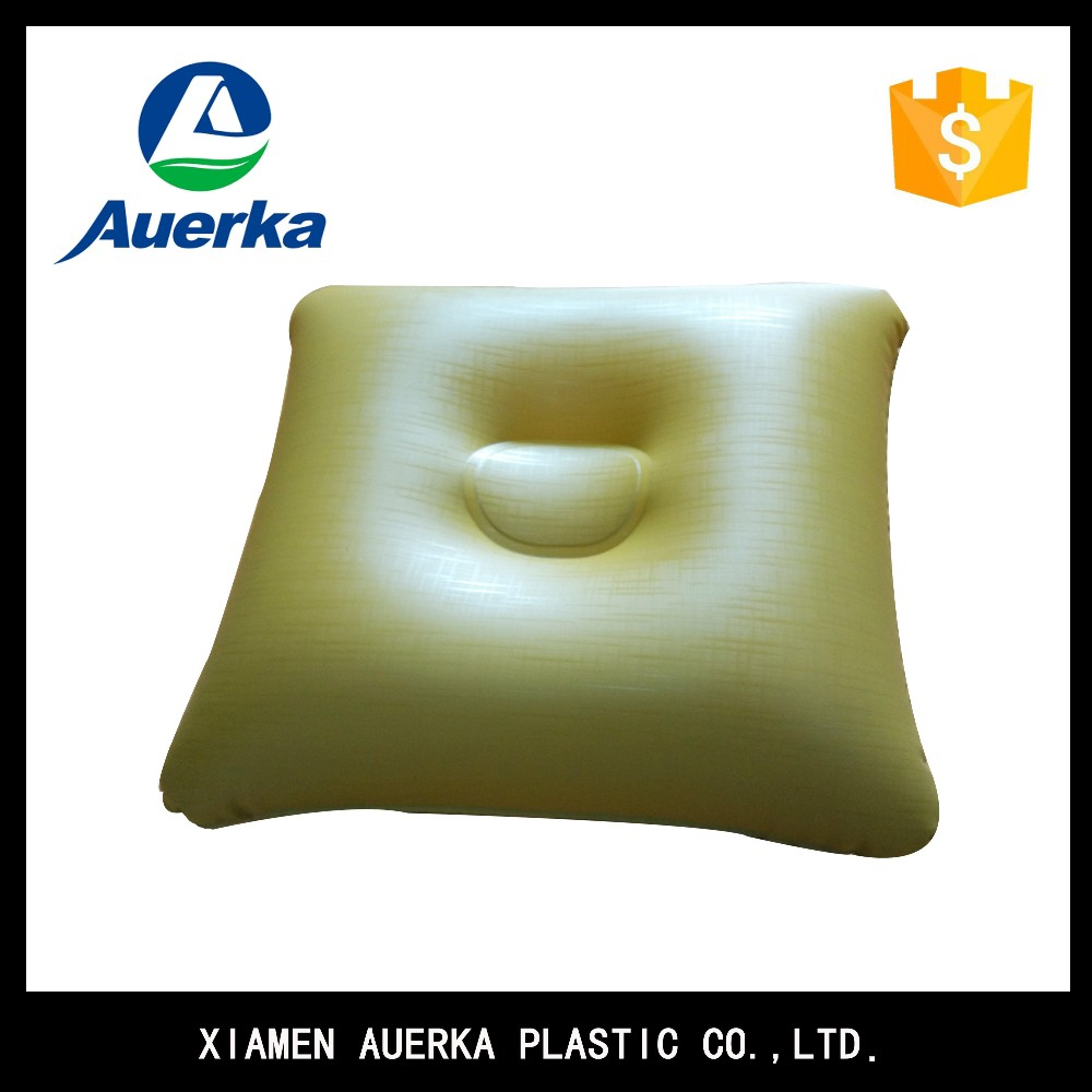China supplier standard down air square beach PVC inflatable wedge pillow for relaxtion