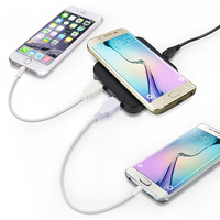 Factory supply double 2 port mini QI wireless car batttery charger 5V for smart phone