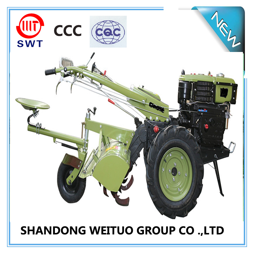 Chinese WEITUO brand 2 wheel tractor /power tiller/ walking tractor for small farm land