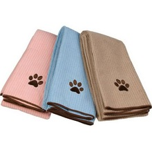Superior 70% polyester 30% polyamide microfiber towel for dogs/Microfiber Pet Cleaning Towel For Dog/embroidered microfiber bulk