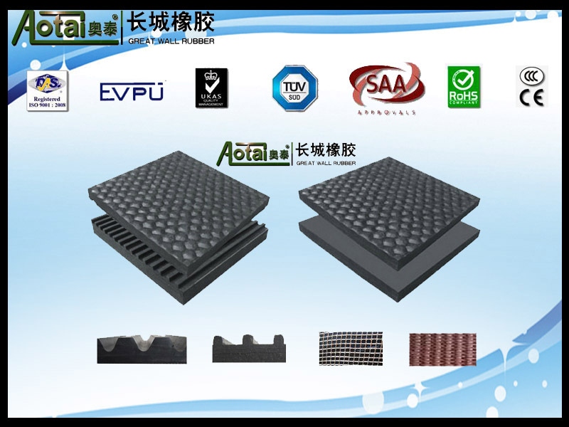 6mm thickness Commercial High Quality Flat Fluted Rubber Flooring Mat for Horse and Cattle
