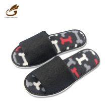 Factory direct cheap price thick sponge EVA sole terry wedding men open toe slippers long shoes for man