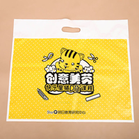2015 hot sale! high quality colorful printing die cut plastic bag for shopping