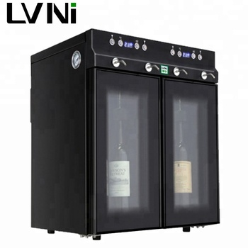 LVNI hot-sales desktop electric commercial automatic 4 bottles drink liquor wine dispenser with nitrogen pump