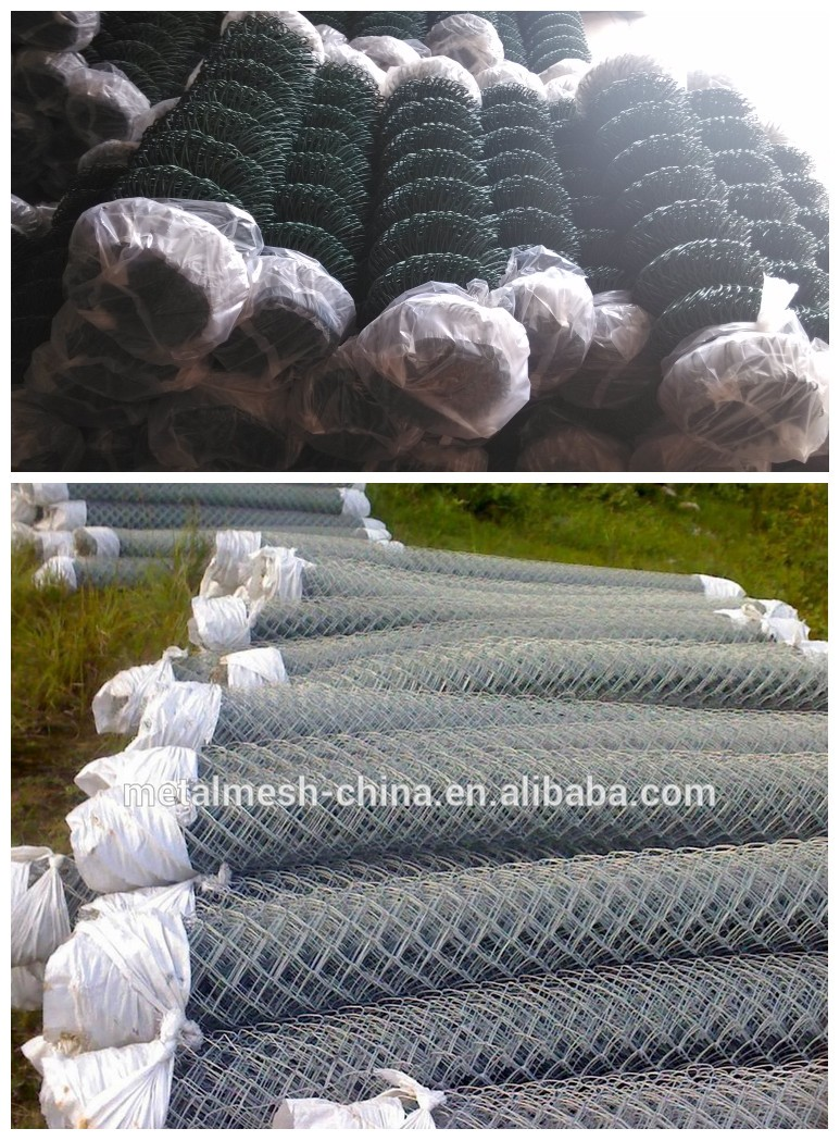Alibaba China supplier 6 foot pvc coating chain link fence