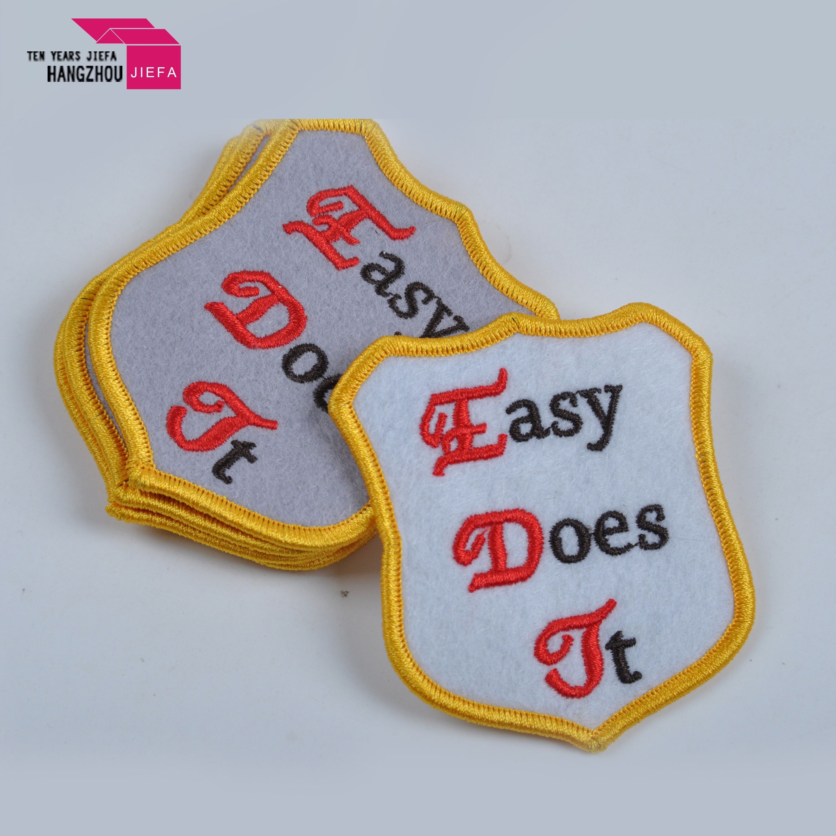 Embroidered name patches custom iron on patches for clothing
